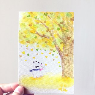 Japanese Bunny Rabbit hand-painted original illustration illustrator card postcard