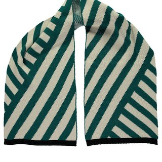 Stripe Scarf  Green