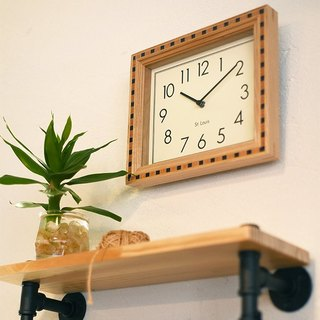 Dunaff- solid wood parquet mute clock wall clock