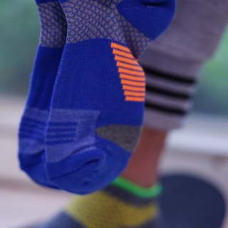 5719 cotton foot bow pressure jogging ankle socks blue (3 colors optional)