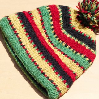 Christmas gift handmade limited edition hand-woven pure wool hat / knitted caps / bristles hand-woven caps / wool cap (made in nepal) - Tropical jungle national totem