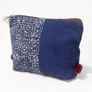 Mother's Day gift graduation gift Valentine's Day gift birthday gift limited handmade / feel blue dye cosmetic bag / indigo blue dye handmade bag / ethnic wind pouch / cotton woven pencil case - walk in the Blue Mosque