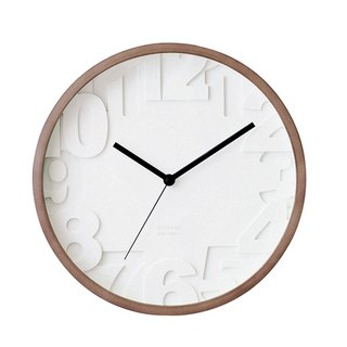 Matiz- white level silent clock wall clock