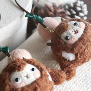 Magic Forest - Super Meng brown Frankie felt ornaments