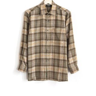 Vintage classic plaid vintage wool shirt