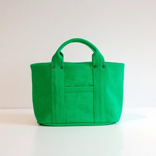 Kurashiki canvas mini tote - Paradise green