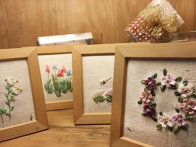Petals緞帶刺繡DIY材料包/花環