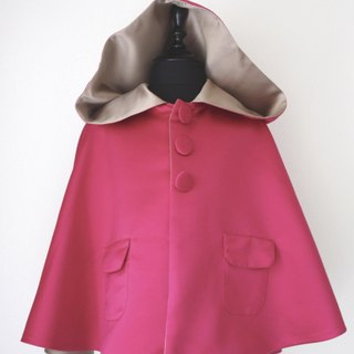 Dolly sided cape (red / light brown)