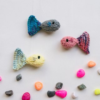 Rainbow Guppies knitted amigurumi home decor ornament