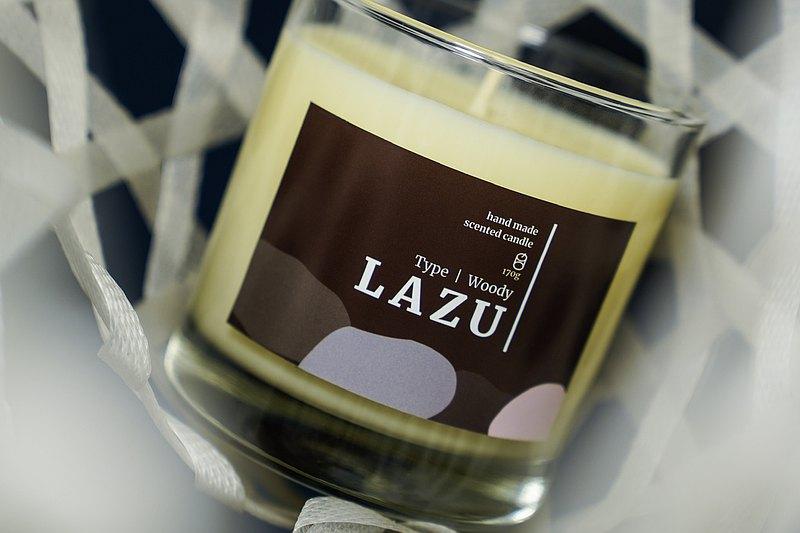 LAZU 木系列 / 雪松薄荷 / 大豆香氛蠟燭