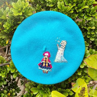 Koko Loves Dessert // I sell you youth - Embroidery double princess beret (Aisha and Anna)