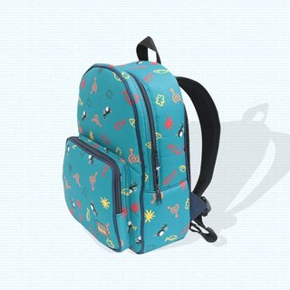 Air backpack for kids - blue (mosquito)