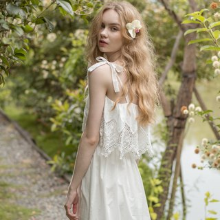 No steel ring home service [exclusive 2in1] forest elf with padded cloth lace cotton dress