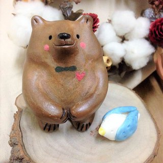 Love Bear Festival Series - Ostrich and Caramel Bear