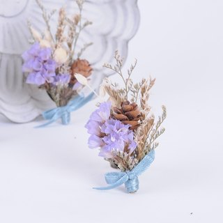 Her Bouquet from the heart smile | dried flower ring crystal flowers purple stars Kasibiya