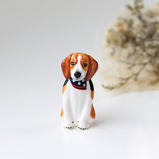 Beagle Dog Brooch, Beagle Dog pin, dog sculpture, dog lover gifts