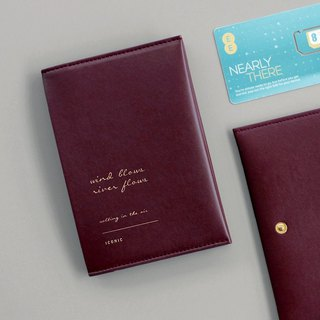 ICONIC Gold Buckle Passbook Passport Short Clip - Bogen Red, ICO52613