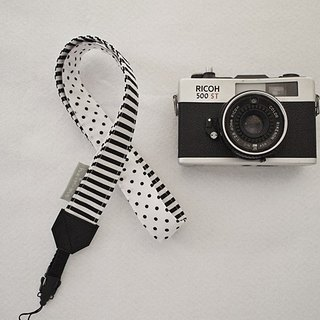 hairmo. Black and white mosaic double hole Strap (single hole 90)