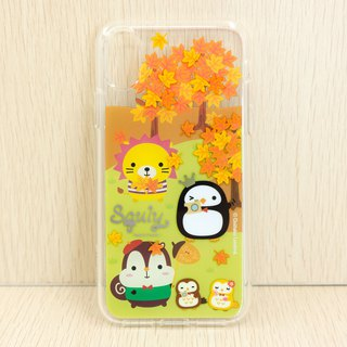 iPhone X TPU Frame Double Layer Back Case (Leaves)