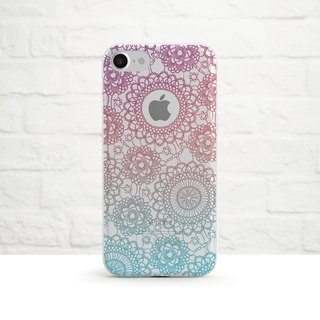 Pastel Mandala-Clear Soft Phone Case, iPhone X, iPhone 8, iPhone 7, iPhone 7 plus, iPhone 6, iPhone SE, Samsung
