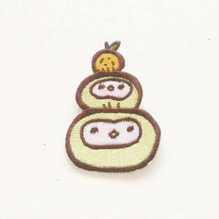 Mirror rice cake Embroidered Patches