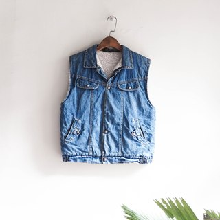 River Hill - Tokyo youth journal blue cotton denim vest vintage antique vintage oversize vest