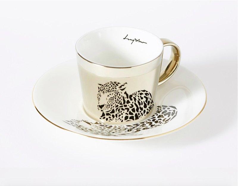 Luycho 鏡面倒影杯組 咖啡杯 _ 美洲豹