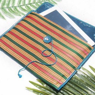 Hand stitching i-pad set tablet bag handmade leather case i-pad bag iPad leather case - Turkish blue