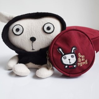 Rabbit 蹦蹦 round zipper bag (monster child painting coin purse headphone cable, power cord storage)