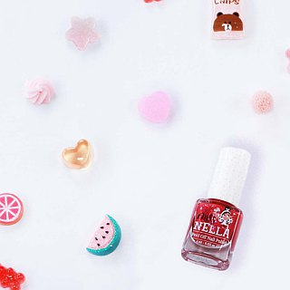 British [Miss Nella] children's water-based tear-proof safety nail polish - Sequin sweetheart (MN18)