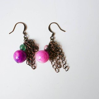 Christmas Jingle [X] hand made natural stone earrings