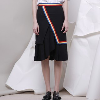 Wood drain Day / kokomorebi package hip skirt A skirt irregular skirt wild