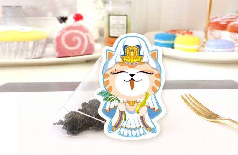 Cat tea tea Kwok goddess Yushou tea bag Japanese style cute handmade cat tea bag creative wedding birthday gift holiday gift with hand