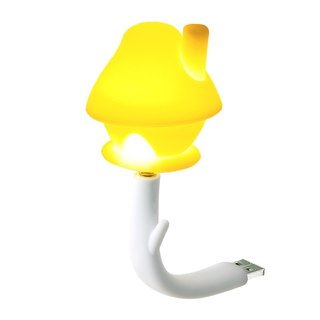 Vacii DeLight Mushroom House USB Situation Lights/Night Lights/Bedside Lights - Yellow