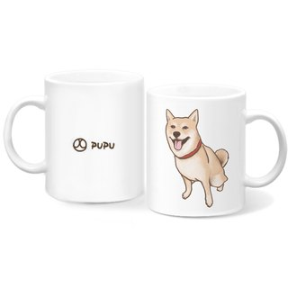 Shiba Inu - Sitting Position - Original Illustration - Mug - Gift Custom - Flies Planet - Handmade Market