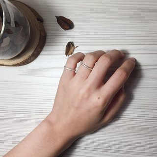 Pure line ring full section | silver ring