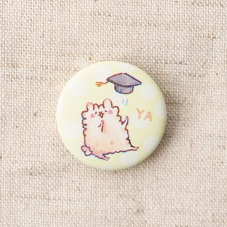 Sheep, goat, grandmother, graduation, matte badge, badge