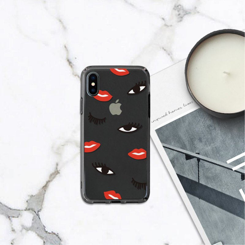 Look me Red Lips Girl Shell Protector for iphone case for SE2,12,12 mini case