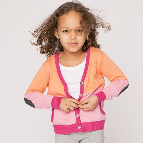Nordic children's clothing organic cotton knitted V-neck jacket (limited edition)