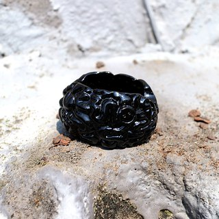 Brain Mini Brain Ashtray (Bright Black)