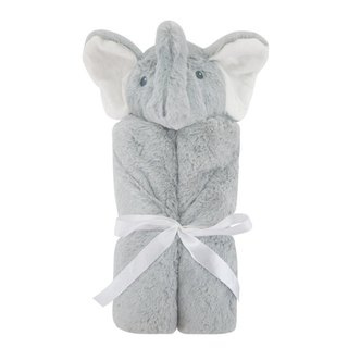 American Quiltex Super Soft Animal Baby Blanket Comforting Blanket - Grey Elephant