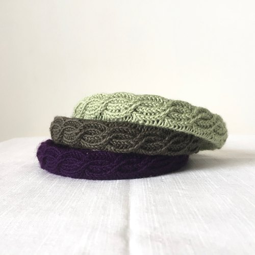 Fabric - hand-woven wool three-dimensional texture retro hair band - Becky optional color custom