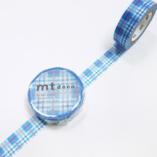 mt Deco Masking Tape 【Check Light Blue (MT01D421)】2018 summer