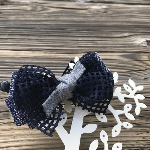 Blue checkered banana clip (dark blue 2 banana hair clip)