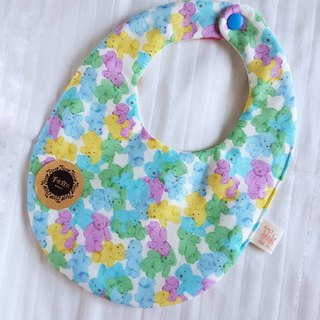 (Coudy Fudge/Blue Green) Eight Layers 100% Cotton Egg AB Side Bib