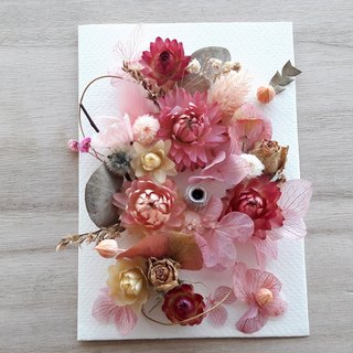 And real flowers || pink line 01 flower card dry flowers do not wither the birthday of Valentine's Day Valentine's Day hand spot