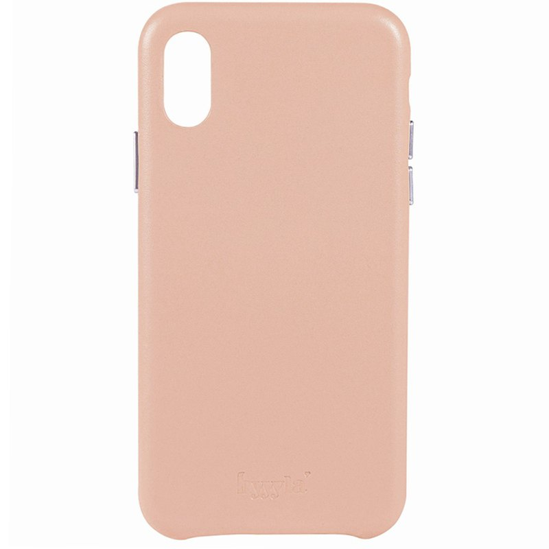 Hyyyla iPhone X/XS pink leather phone case can be customized English name]