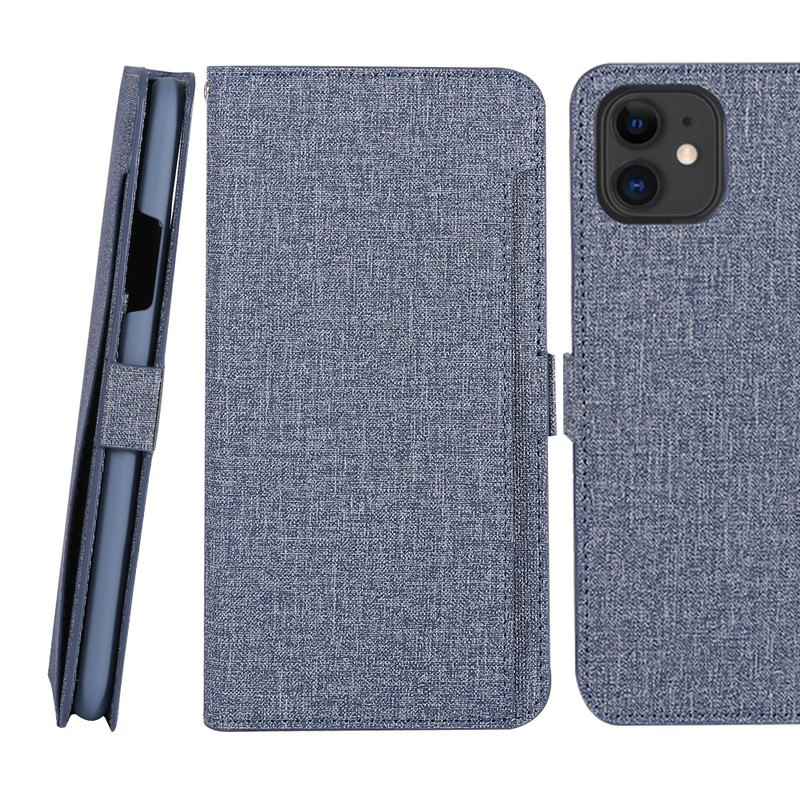 CASE SHOP iPhone 11 Pro max front storage side holster leather blue 47177786661187