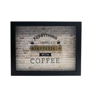 Scrabble Wall Art - Coffee