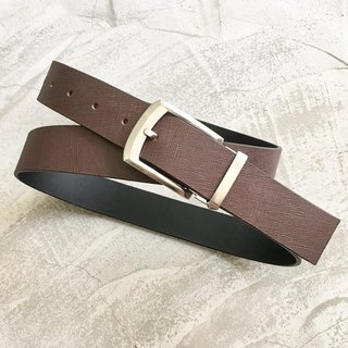KAKU leather design Italian cross belt custom dark coffee